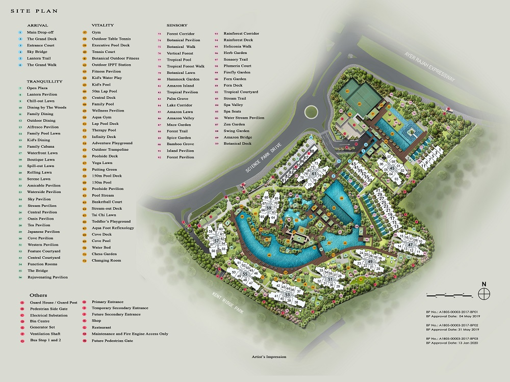 Normanton Park Site Map with legend